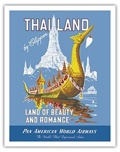 thailand vintage travel poster - Google Search