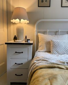 The best thing about the end of summer is the need for a side light! I just can't get enough of them!! They make the home so cosy &… Farmhouse Bedrooms, Spare Room, End Of Summer, Dresser As Nightstand, Cosy, Lifestyle, Table, Inspiration, Furniture