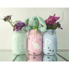 HOP, Easter Decor, Spring Decor, Cottage Chic Decor, Cute Home Decor,... (34 AUD) ❤ liked on Polyvore featuring home, home decor, holiday decorations, easter home decor, spring home decor and festive home decor