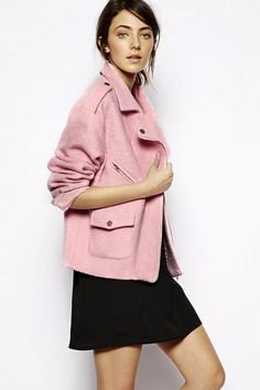 The perfect pink moto jacket