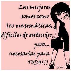 Mujeres y matemáticas!!!!!!!