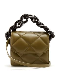Oversized curb-chain quilted leather shoulder bag | Marques'Almeida | MATCHESFASHION.COM US
