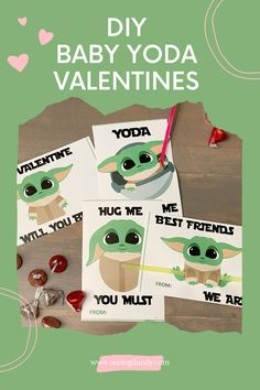 Baby Yoda Valentines are popular this year! My kids love all things Star Wars and that includes little Grogu from The Mandalorian on Disney Plus. Creating this The Child Valentine card is such an easy DIY using a printable and getting glow sticks from the Dollar Tree. So it's a partial Dollar Tree craft! #diy #dollartree #dollartreecraft #valentinesday #valentine #printables #printable #disneyplus #grogu #themandalorian #thechild #babyyoda #yoda #starwars #disney