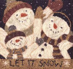 Let it Snow Punchneedle by Teresa Kogut