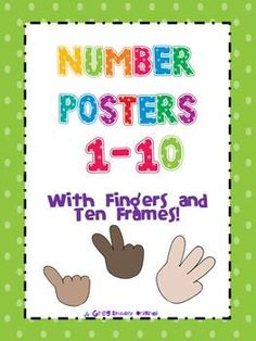 $3 Number Posters 1-10 With Fingers and Ten Frames!