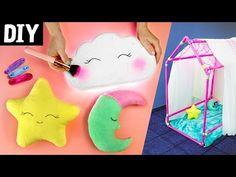 DIY para Crianças ⭐ Casinha de Cano, Luminária de Nuvem e Almofadas Fofinhas - YouTube
