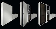 Example of minimal door system for a modern kitchen.