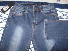 Зауженные синие джинсы Lady N с высокой посадкой Днепропетровск