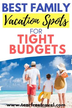 The Best Family Vacation Spots for Tight Budgets - Tear Free Travel Looking for a cheap family vacation? These affordable vacation spots are perfect for your next family vacation. We've compiled a lis Best Cheap Vacations, Inexpensive Family Vacations, Cheap Vacation Spots, Best Family Vacation Spots, Vacations In The Us, Affordable Vacations, Family Vacation Destinations, Family Travel, Vacation Deals