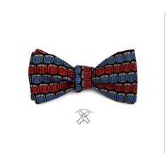 Josh Bach Mens Atoms Molecule Self-Tie Silk Bow Tie in Black Made in USA