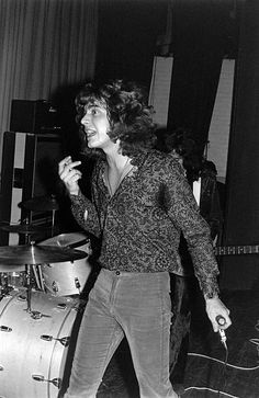 Photo of LED ZEPPELIN Robert Plant Led Zeppelin March 15 1969 Gladsaxe Teen Club Copenhagen Denmark