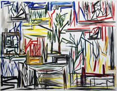 """Ken Whisson - """"Post Abstract Landscape and Factory and Eucalypt"""""""
