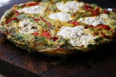 Ricotta and Roasted Pepper Frittata Recipe | SAVEUR