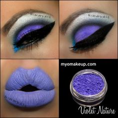 Single Eyeshadow Pigments - MYO Violet Nature Matte Purple Eyeshadow Pigment Mica Loose Powder Cosmetic Makeup (Powered by CubeCart)