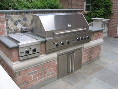 BBQ-Outdoor Kitchen-Built-In-Grill-Fireplace Design Ideas NJ