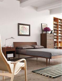 Bed, shelf, cabinet
