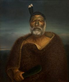 Gottfried Lindauer, Eru Tamaikoha Te Ariari, oil on canvas Auckland Art Gallery Toi o Tāmaki, gift of Mr H E Partridge, 1915 Maori Face Tattoo, Ta Moko Tattoo, Auckland Art Gallery, Polynesian People, Maori People, Popular Paintings, Nz Art, Maori Art, Kiwiana