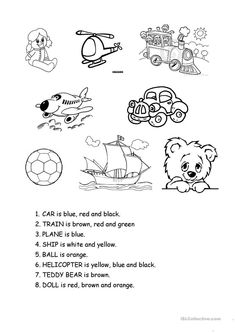 A collection of English ESL Toys worksheets for home learning, online practice, distance learning and English classes to teach about English Reading, English Fun, English Lessons, Learn English, English Tips, English Class, English Grammar, English Worksheets For Kids, English Activities