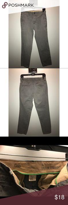 Gap grey chino pants Lived-in straight grey pants; waist:29, length:32; EUC; make an offer GAP Pants Chinos & Khakis