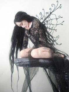 SHADOWSCULPT OOAK realistic goth fairy art doll by shadowsculpt, £260.00