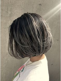 Ash Hair, Ombre Hair, Platinum Highlights, Short Dark Hair, Aesthetic Hair, Going Gray, Bob Hairstyles, Dyed Hair, Short Hair Styles