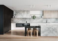 Kitchen Themes, Home Decor Kitchen, Kitchen Furniture, Kitchen Interior, Home Kitchens, Modern Kitchens, Kitchen Colors, Furniture Design, Kitchen Benchtops