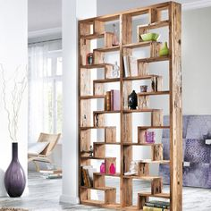 Raumteiler, Woody, Teak-Holz | Standregale | Regale | Wohnen ...
