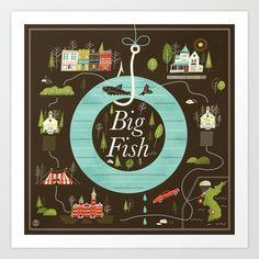 Big Fish Art Print by Brad Woodard - $18.00