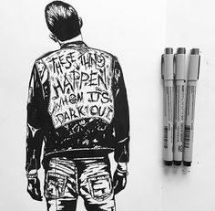 #FanFriday art by @andrew1cooper  @g_eazy #geazy #whenitsdarkout