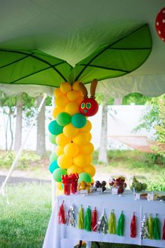Very Hungry Caterpillar birthday party! See more party ideas at CatchMyParty.com!