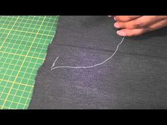 Hand Sewing - The Diagonal Basting Stitch.This technique is worthwhile knowing and is a temporary stitch used to hold two or more layers of fabric together. Sewing Basics, Sewing For Beginners, Sewing Hacks, Sewing Tutorials, Video Tutorials, Sewing Tips, Hand Sewing Projects, Sewing Crafts, Fashion Sewing
