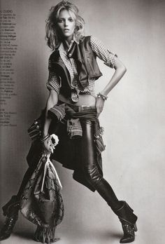 """Anja Rubik photographed by Patrick Demarchelier in """"Hey, Jimi"""" for Vogue España, March 2010."""