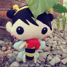 New Cute Baby Bees Girl Doll Plushie DIY Gift