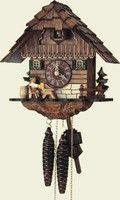 1104/9   1-Day Wooden Cuckoo Clock by Schneider
