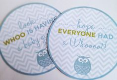 Owl Baby Shower Decorations Printables DIY Boy Girl. $15.00, via Etsy.