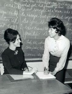 My mom! In her first career as a high school English teacher.