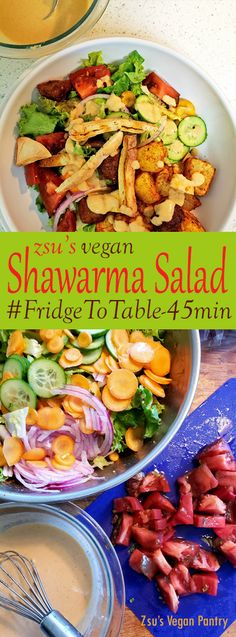 Zsu's Vegan Pantry: shawarma salad