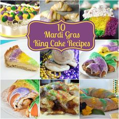 King Cake inspired recipes for mardi gras Inexpensive Birthday Party Ideas, Easy Party Food, Mardi Gras Food, Mardi Gras Party, Turkey Fruit Platter, King Cake Recipe, Cakes Plus, St Patricks Day Food, Holiday Recipes