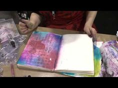 Dyan Reaveley Full Demo at CHA 2013 - Absolutely brilliant video about how to make backgrounds for journaling