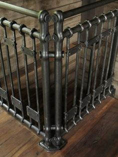 hand forged stair rail: