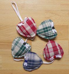 Coeurs à suspendre en tissu, guirlande de coeurs en kelsch : Accessoires de maison par alsace-gourmets