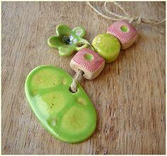 "Set of ceramic ""Green Spring"" from MAJOYOAL by DaWanda.com"