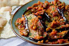 M'saka'a - Auberginen mit Kichererbsen und Tomaten   Bistro Badia
