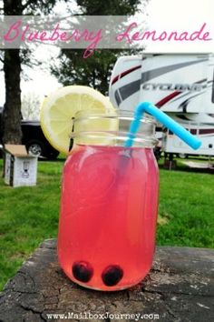 Blueberry Lemonade with Vodka by Mailbox Journey