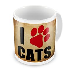 Coffee Mug I love Cats Vintage - Neonblond *** You can find more details by visiting the image link. (This is an affiliate link and I receive a commission for the sales) #PetCats