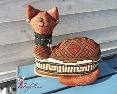 Türstopper - afrikan. Türstopper-Katze Etana - Deko-Katze - ein Designerstück von Fatafelina bei DaWanda