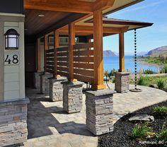 Exterior Patio Columns: Grey PRO-FIT® LEDGESTONE - Cultured Stone® Brand_Manufactured Stone Veneer