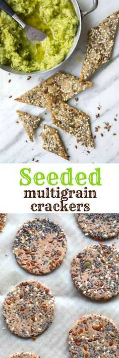 Crispy, crunchy multigrain crackers, loaded with seeds! Perfect for dipping and adding to cheese platters.