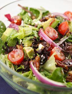 The raspberry vinaigrette dressing MAKES this salad. Total yumminess!