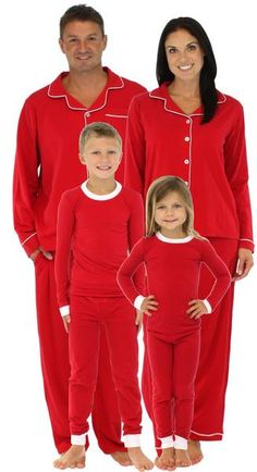 20412b113c SleepytimePjs family matching red pajamas are perfect for the entire family.  Imagine sending out cheerful